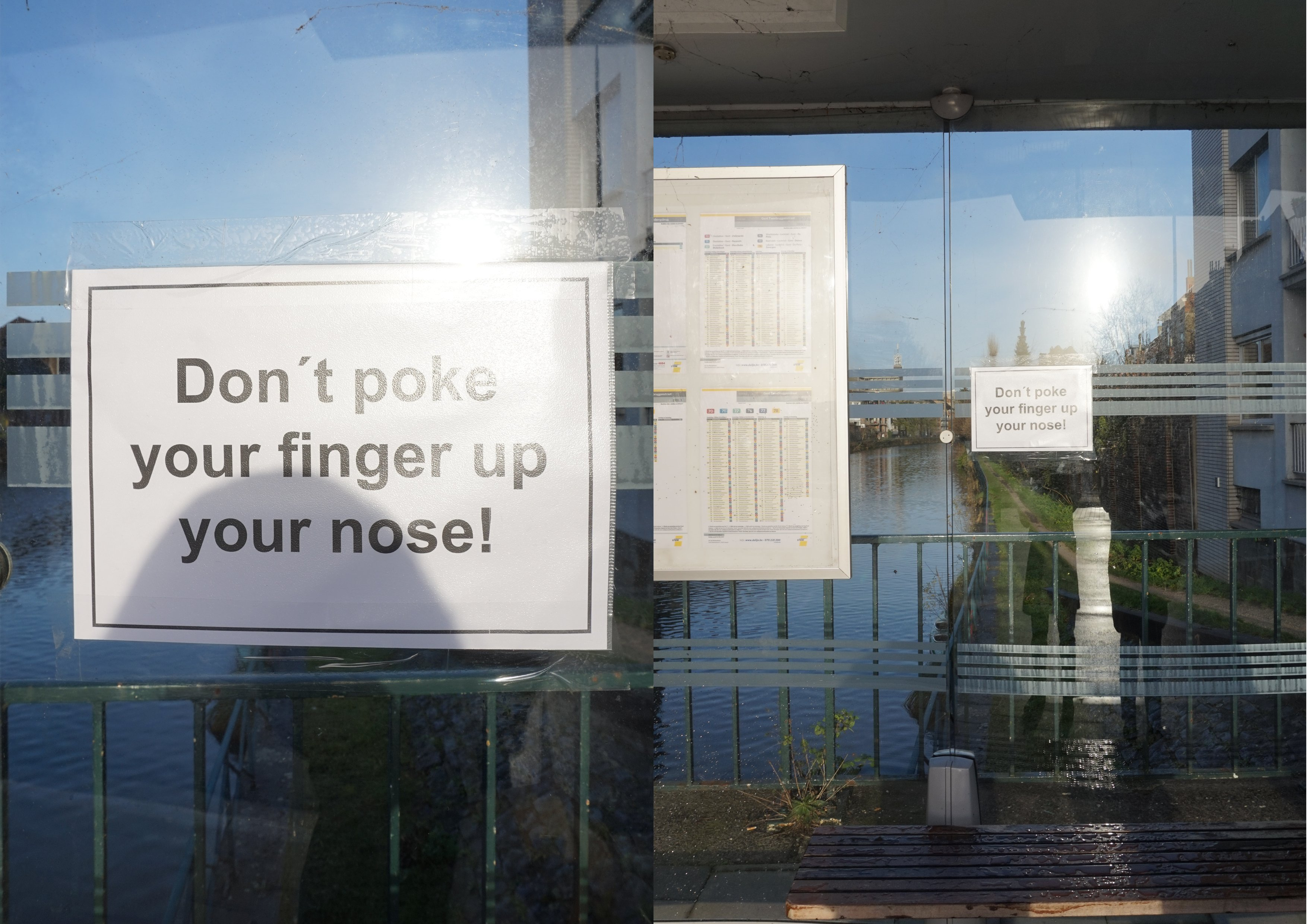Don't poke your finger up your nose!